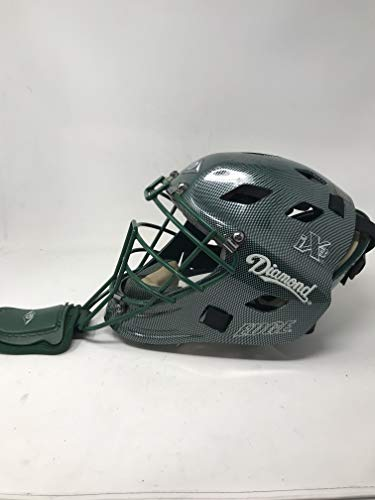 Diamond iX3 Edge Hockey Style Catcher's Helmet (Dark Green, Small)