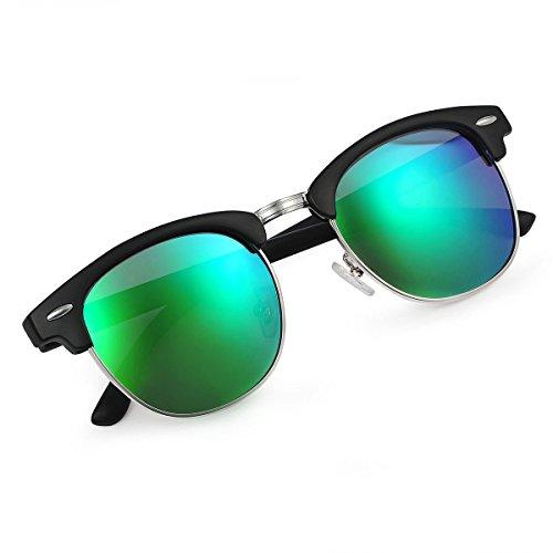 sol Negro Yveser Gafas polarizadas hombre mujer Mate de Verde y Marco Yv5156 para Lente EEFOxqS