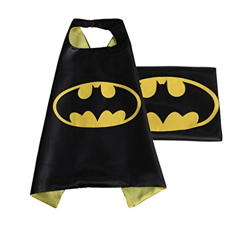 [Rush Dance Deluxe Comics Satin Unisex Superheros Cape (Small, Black & Yellow (Batman))] (Cars Movie Costumes)