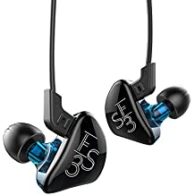 KZ ES3 1DD+1BA Dynamic Hybri With Replacement Cable Noise Canceling In-Ear Ephone (Blue without Mic)