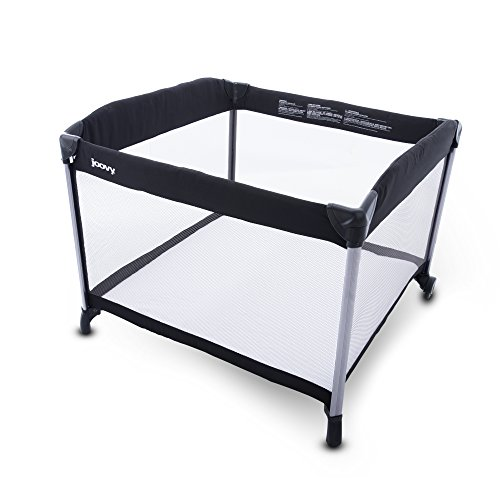 Joovy New Room2 Portable Playard, Black Silver (Twin Bassinet Pack And Play)