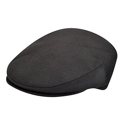 Borsalino Male Bb12033 Large Wool Ivy Cap Black (Borsalino Mens Hat)