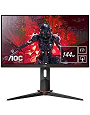 "AOC 24G2U/BK Monitor Gaming de 24"" Full HD e-Sports (IPS, 1ms, AMD FreeSync, 144Hz, Sin Marco, Ajustable en altura y FlickerFree)"