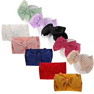 Big Hair Bow Baby Christmas Headbands Knot Headwrap Nylon Elastic Head Wraps for Newborn Infant Toddler Hair Accessories