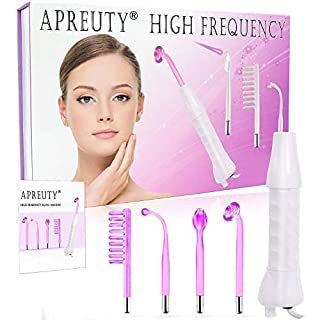 High Frequency Facial Machine, APREUTY Portable Handheld High Frequency Facial Wand Device Violet Ray Argon Acne for Personal Beauty Skin Tightening Acne Spot Wrinkles Remover Eyes Body Care