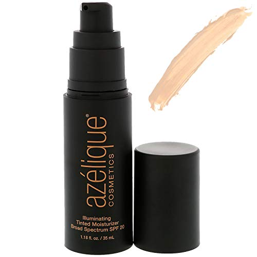 Azelique Illuminating Tinted Moisturizer Broad Spectrum SPF 20 Light Cruelty-Free Certified Vegan 1 18 fl oz 35 ml