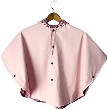 防水 キッズレインコート 風と雨肥厚ピンクのレインコートマント子供女の子ポンチョレインコートの両側に装着 梅雨対策 アウトドア