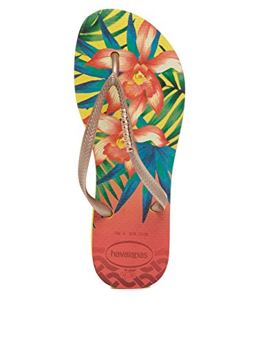 Slim Tropical Beige Havaianas Femme Tongs qZH8R8