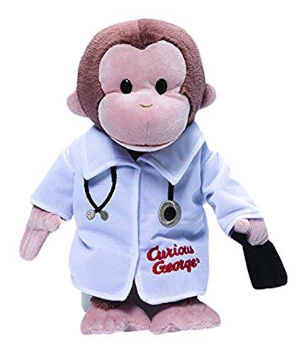 Doctor Bear - GUND Curious George Doctor Monkey Stuffed Animal Plush, 13