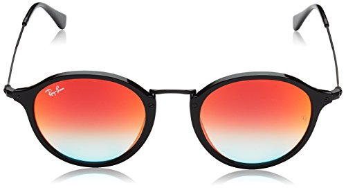 Ray Sunglass Red Ban Acetate Mirror Black Shiny Gradient Man soleil Shiny Lunettes Black de TrrPwqHY