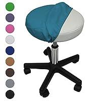 Vivezen ® Drap housse de protection en éponge pour tabouret rond - 10 coloris - Norme CE