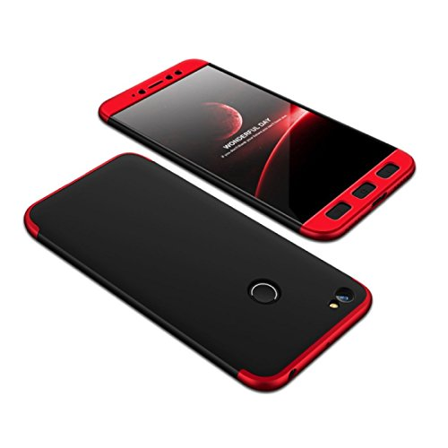 E-COSMOS Double Dip Full Protection Back Cover Case for Redmi Y1- Red / Black