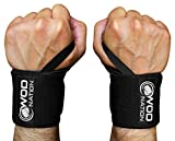 """WOD Nation Wrist Wraps by Wrist Support Straps (12"""", 18"""" or 24"""") - Fits Both Men & Women - Strength Training, Weightlifting, Powerlifting - Lift Heavier Weight + Free Carrying Bag Included"""