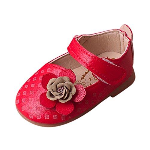 Prevently Kinderschuhe Mädchen Schuhe Kleine Schuhe Schuhe Baby Mädchen Floral Sandalen Sneaker Kleinkind Kinder Prinzessin Casual Einzelne Schuhe Rot