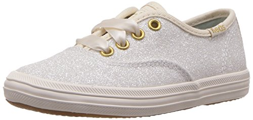 Keds Girls' Champion Glitter, Cream, 10 Medium US Toddler