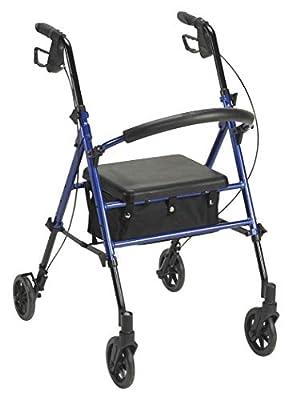 "300 lbs Adjustable Height Rollator with 6"" Wheels"
