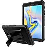 TiMOVO Case for Samsung Galaxy Tab A 8, Shockproof Heavy Duty Full Body Rugged Protective Cover Stand Shell with Screen Protector for Galaxy Tab A 8.0 Inch 2018 Release Tablet Model T387 - Black