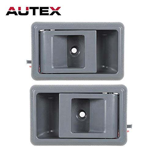AUTEX 2pcs Gray Interior Door Handles Compatible with Toyota Tacoma 1995-2000 Door Handle Replacement for Toyota Tercel Pickup 4Runner Corolla 87-95 Door Handle Front/Rear Left Right
