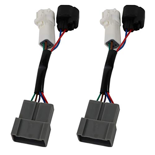 JDMSPEED New Mirrors Power Heated Upgrade Harness Adapter LH RH Pair Set for 00-01 ()
