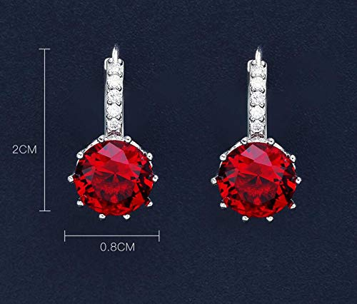 ,KoreanJewelry Explosion Models Crystal Zircon Earrings Temperament Metal Earrings High-Grade Earrings Jewelry Female Round /& Princess Essentials Stud Earrings