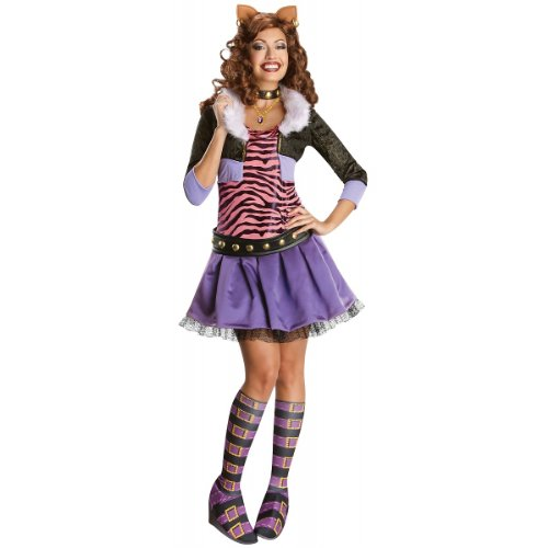 [Secret Wishes Monster High Deluxe Adult Clawdeen Wolf Costume, Multi, Large] (Wolf Costume Halloween Express)
