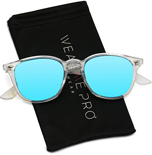 WearMe Pro - Mirrored Lens Square Rectangular Modern Sunglasses Men ()