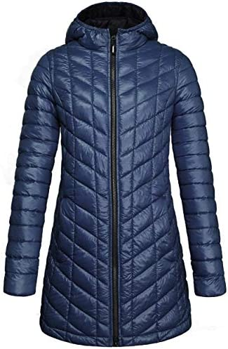 Outdoor Ventures Women's Maryan Hooded Ultra Lightweight Warm Thermolite Long Puffer Coat