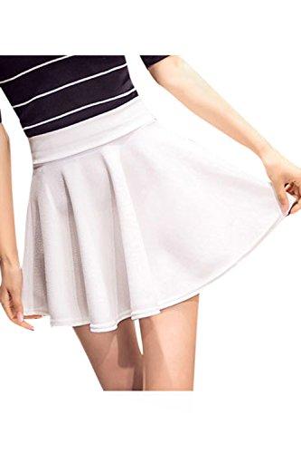 Sopliagon Les Femmes Jupe Plisse lgant Taille Haute Taille Mini - Jupes Plus White