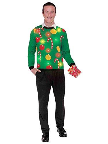 Forum Novelties Adult Extra Large Tis The Season Light-Up Ugly Christmas Sweater, Multi, X-Large]()