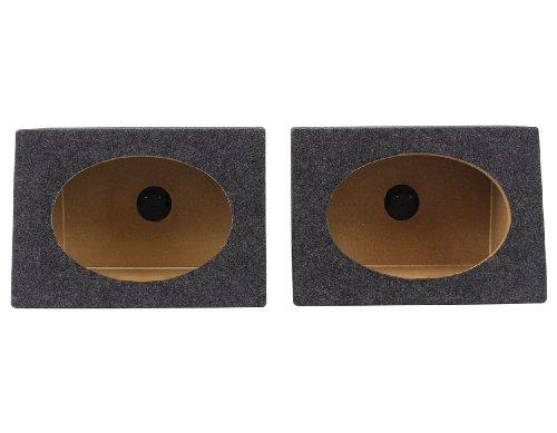 Rockville RS6x9PR Pair of Car Audio 6x9 Wedge Sealed Speaker Box Enclosures ()
