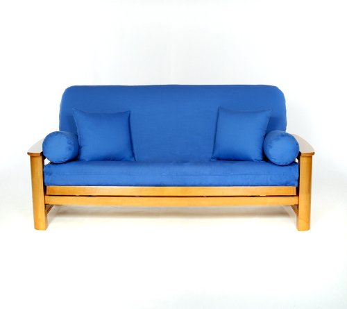 Lifestyle Covers 100% Cotton Cobalt Full Size Futon Cover