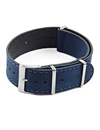 DASSARI Royal Nubuck Suede NATO Strap Watch Band in 18mm 20mm 22mm 24mm