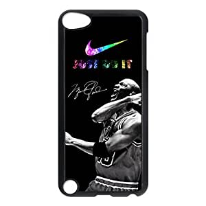 Chicago Bulls Michael Jordan Ipod Touch 5th With Nike-Just Do It Hard Protector Case by runtopwell