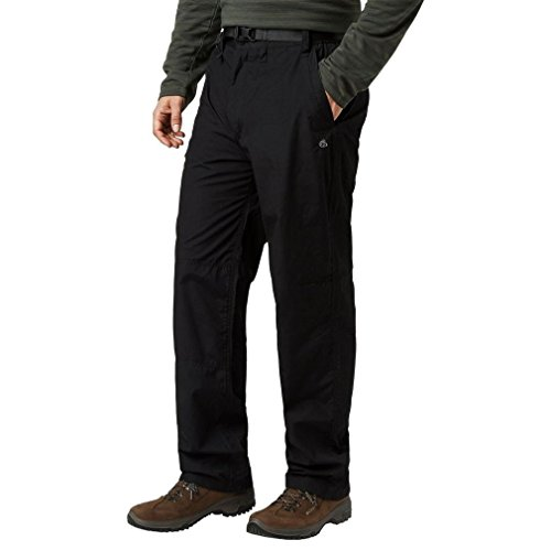 Craghoppers Men's Classic Kiwi Pants (Regular), Black, - Uk Co Craghoppers