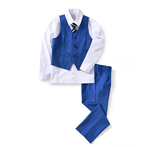 Yuanlu 4 Piece Formal Suits for Boys Vest