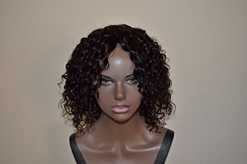 Handmade Wig - Brazilian Deep Wave Human Hair 8A Natural Color 10-10-10 by Chezlilika