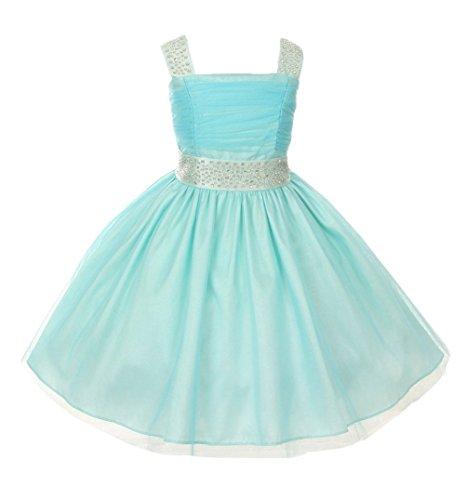 Aqua Sleeveless Dress - 3