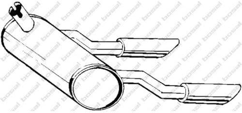 Bosal 185 582 Endschalldämpfer Auto