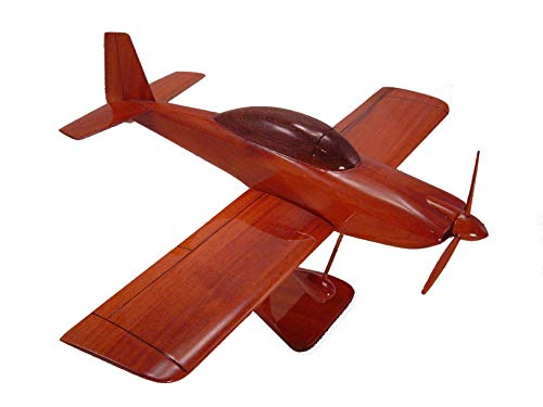 Van's Aircraft RV-7 Mahogany Wood Desktop Airplane Model from Tesaut Desktop Models