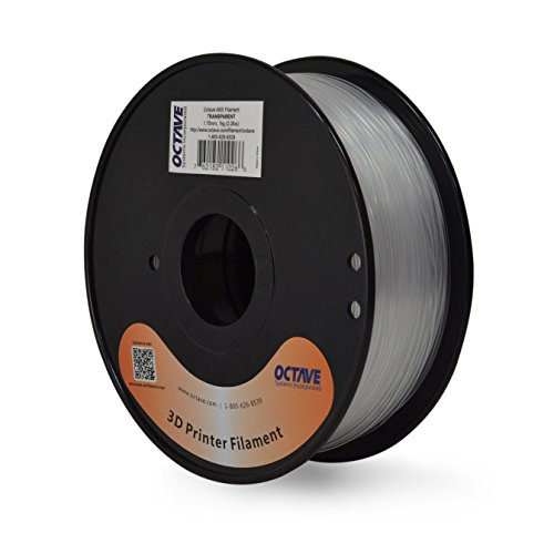 Octave 1.75mm Transparent ABS Filament 1kg (2.2lbs) Spool for 3D Printers by Octave