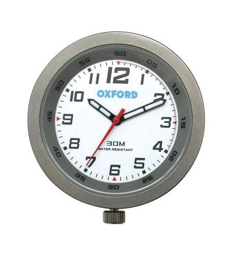 Oxford OF218T Titanium Analogue Clock for Outdoor Vehicles (Titanium Oxfords)