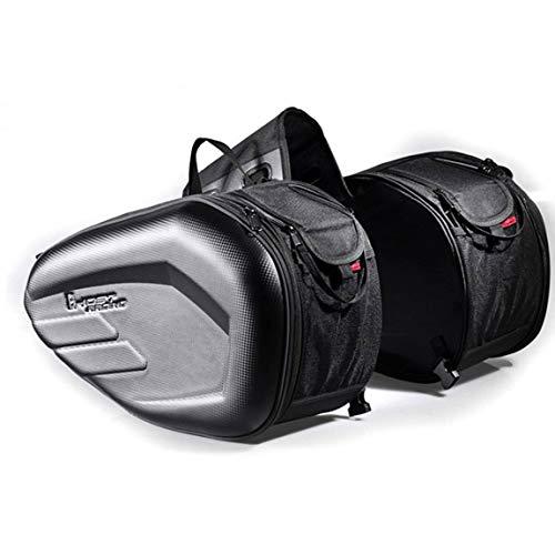 58L Motorcycle Saddlebags Rear Seat Luggage Large Capacity Multi-use Expandable Body & Frame Tank Bag & Saddlebags - Black