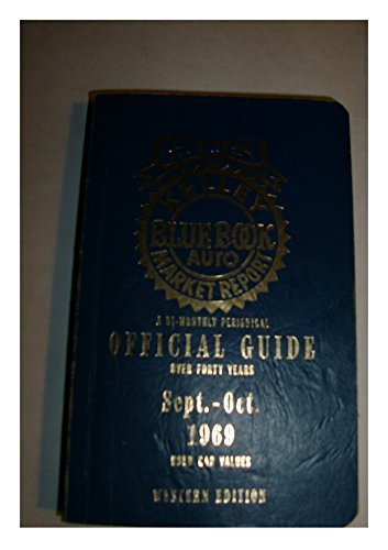 Kelley Blue Book, 1969 Sept. - Oct., Official Guide - Used Car Values / Western Edition