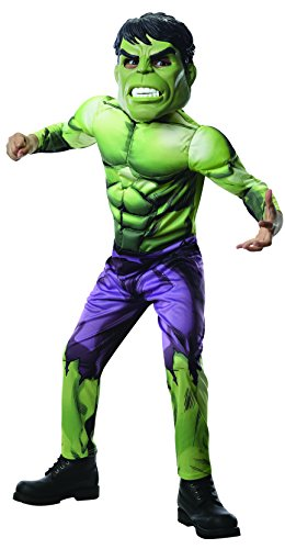Incredible Hulk Deluxe Boys Child Kids Youth Muscle Chest Costume (Incredible Hulk Costume For Mens)