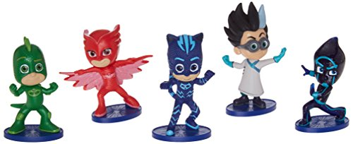 Chest Figurine Set (Just Play PJ Masks Collectible Figure Set (5 Pack) Styles may vary)
