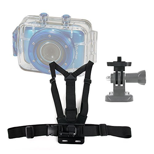 DURAGADGET Premium Quality Vivitar Action Camera Chest Harness Mount Fully Adjustable Chest Harness Mount With Quick Release-Buckle For NEW Vivitar DVR785HD-BLU 5MP Pro Waterproof Action Camcorder & Vivitar DVR995WHD-GRP-IT Camscope numrique tanche 12 Mpi