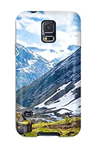 First-class Case Cover For Galaxy S5 Dual Protection Cover Norway Summer