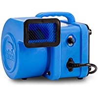 B-Air FX-1 1/4 HP Mini Air Mover for Water Damage Restoration Daisy Chain Carpet Dryer Floor Blower Fan, Blue