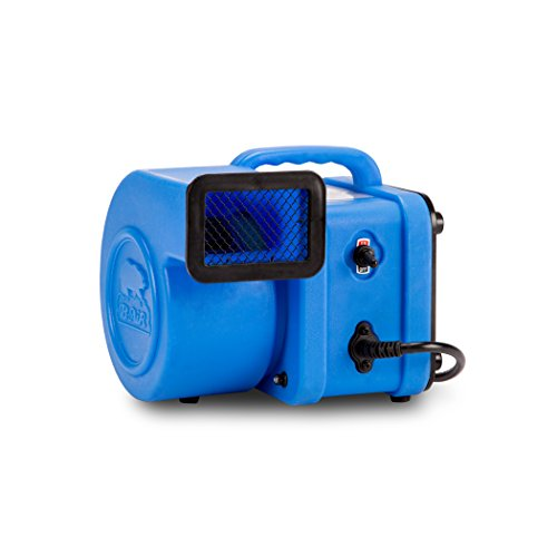 B-Air FX-1 1/4 HP Mini Air Mover for Water Damage Restoration Daisy Chain Carpet Dryer Floor Blower Fan, Blue -  FX-1 BLUE
