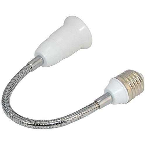 30CM E27 LED Light Bulb Lamp Holder Flexible Extension Adapter Converter Screw Socket